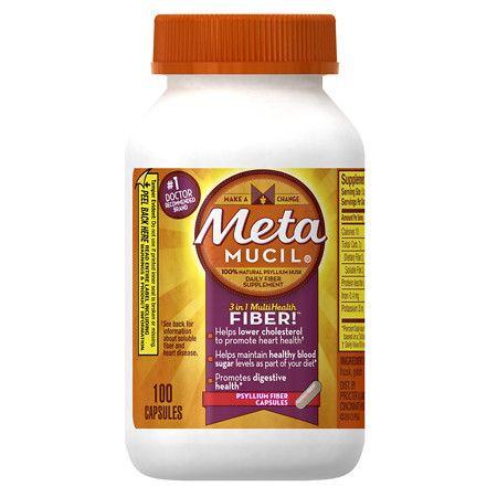 Metamucil MultiHealth Fiber Psyllium Fiber Capsules - 100 ea
