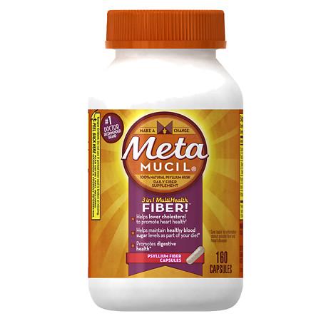 Metamucil Multihealth Fiber Daily Supplement Capsules - 160 ea