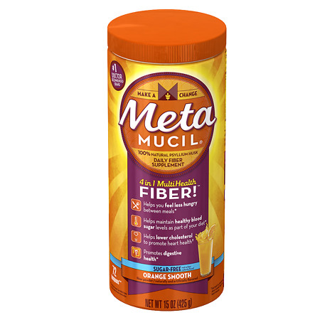 Metamucil Psyllium Daily Fiber Supplement Orange Smooth - 15 oz.