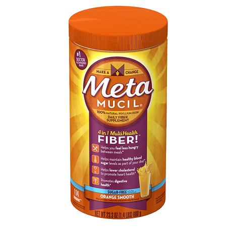 Metamucil Psyllium Daily Fiber Supplement Orange Smooth - 23.3 oz.