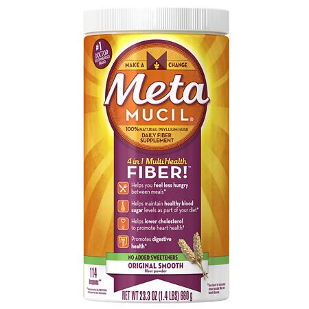 Metamucil Psyllium Daily Fiber Supplement Original Smooth - 23.3 oz.