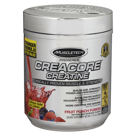 Muscletech CreaCore Supplement Fruit Punch Fusion - 11.51 oz.