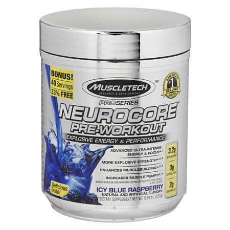 Muscletech NeuroCore Supplement Icy Blue Raspberry - 12.32 oz.