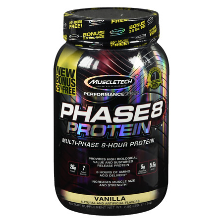 Muscletech Phase 8 Protein Vanilla - 40 oz.
