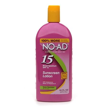 NO-AD Sunscreen Lotion, SPF 15 - 16 fl oz