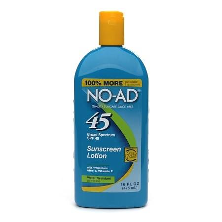 NO-AD Sunscreen Lotion, SPF 45 - 16 fl oz