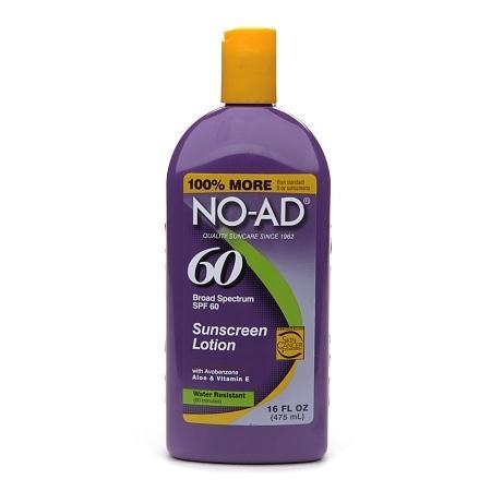 NO-AD Sunscreen Lotion, SPF 60 - 16 fl oz