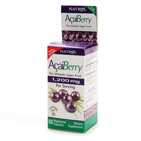 Natrol Acai Berry 1200 mg Dietary Supplement Capsules - 60 ea