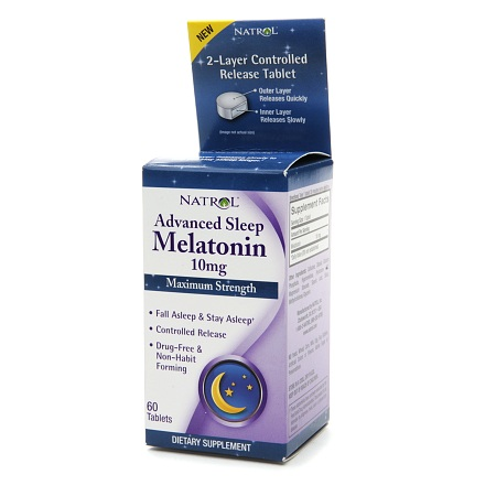 Natrol Advanced Sleep Melatonin 10 mg Dietary Supplement Tablets - 60 ea