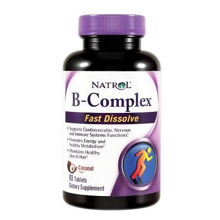 Natrol B-Complex Fast Dissolve Tablets, Coconut - 90 ea