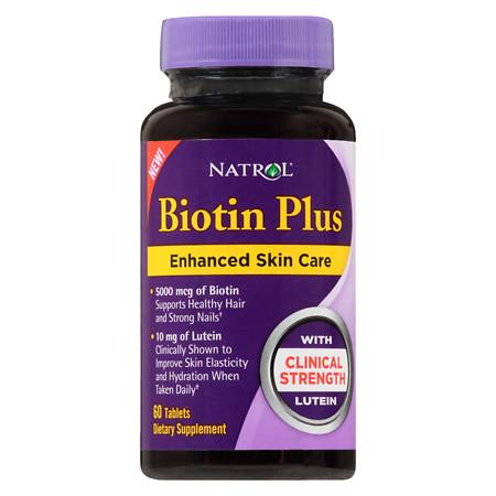 Natrol Biotin Plus Lutein - 60 ea