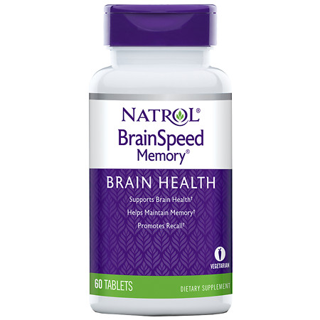 Natrol Brain Speed Memory Dietary Supplement Tablets - 60 ea