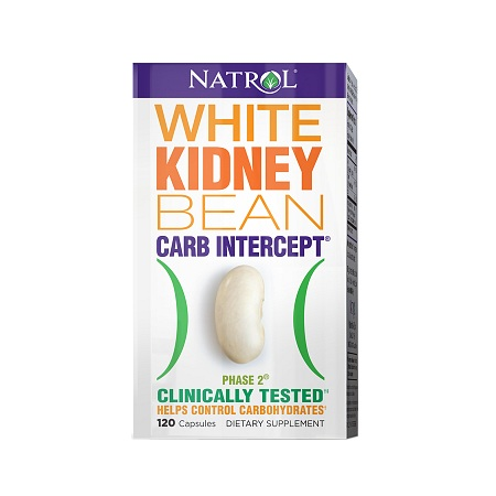 Natrol Carb Intercept with Phase 2 White Kidney Bean Extract Dietary Supplement - 120 ea