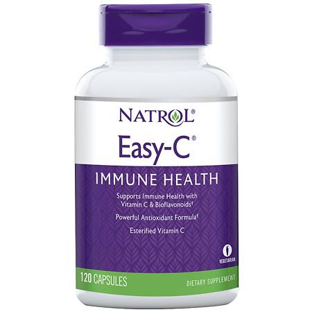 Natrol Easy-C 500mg, Vegetarian Capsules - 120 ea