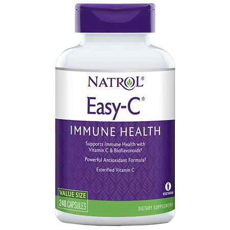 Natrol Easy-C, 500mg, Vegetarian Capsules - 240 ea