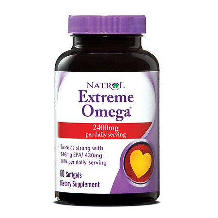 Natrol Extreme Omega Fish Oil 1200 mg - 60 ea