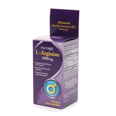 Natrol L-Arginine 3000 mg Dietary Supplement Tablets - 90 ea