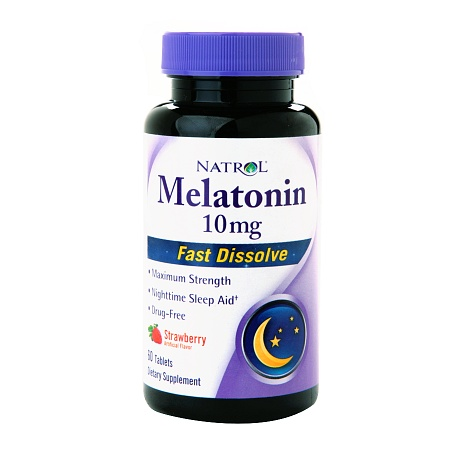 Natrol Melatonin 10 mg Dietary Supplement Tablets Fast Dissolve Strawberry - 60 ea