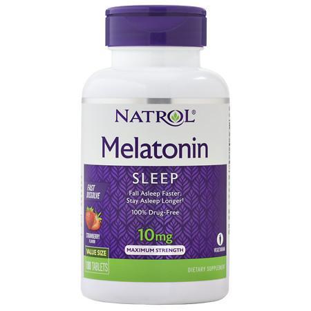 Natrol Melatonin Fast Dissolve 10 mg Tabs - 100 ea