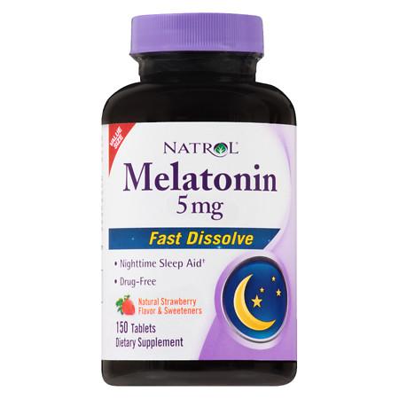 Natrol Melatonin Fast Dissolve 5 mg Tabs - 150 ea