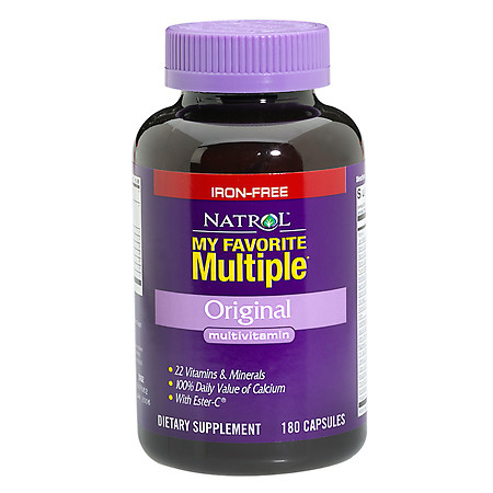 Natrol My Favorite Multiple Multivitamin Dietary Supplement Capsules Iron Free - 180 ea