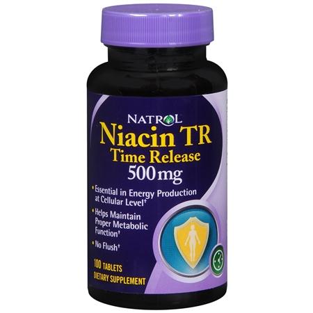 Natrol Niacin TR Time Release 500 mg - 100 ea