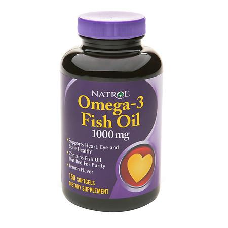 Natrol Omega-3 Fish Oil 1000 mg Dietary Supplement Softgels - 150 ea