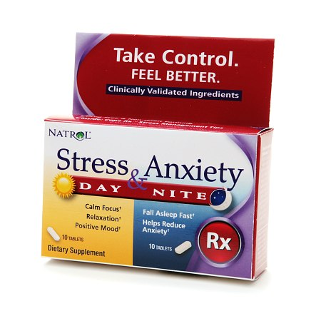 Natrol Stress & Anxiety Day & Night Dietary Supplement Tablets - 20 ea