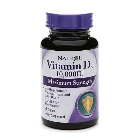 Natrol Vitamin D3, 10,000 IU, Mini Tablets - 60 ea
