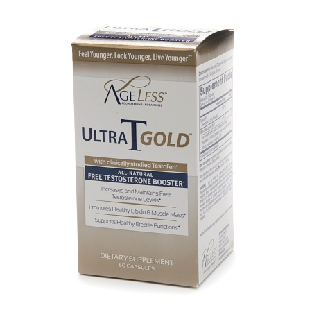 Naturade Ageless Ultra T Gold, Male Testosterone Booster - 60 ea