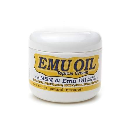 Natural Treasures Emu Oil Topical Cream - 4 oz.