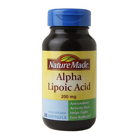 Nature Made Alpha Lipoic Acid 200mg, Softgels - 30 ea