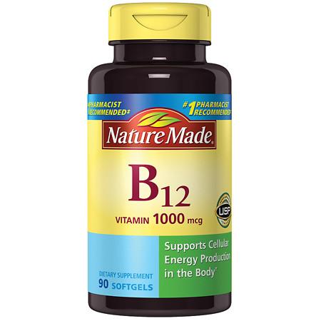 Nature Made B-12 1000 mcg Dietary Supplement Liquid Softgels - 90 ea