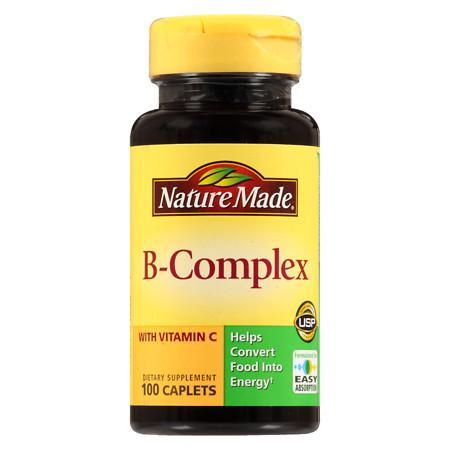 Nature Made B-Complex Dietary Supplement Caplets - 100 ea