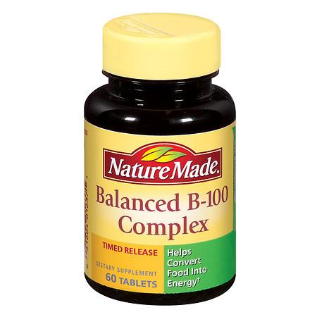 Nature Made Balanced Vitamin B-100 Complex - 60 ea
