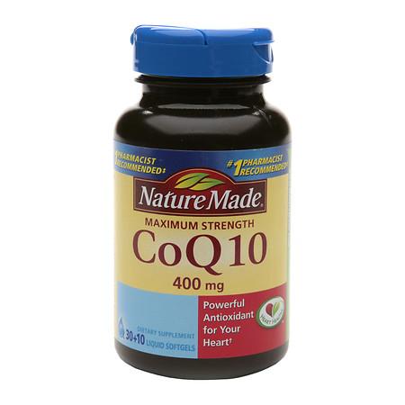 Nature Made CoQ10 400 mg Dietary Supplement Liquid Softgels - 40 ea