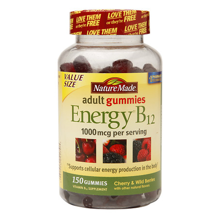 Nature Made Energy B12 1000mcg Adult Gummies Cherry & Wild Berries - 150 EA