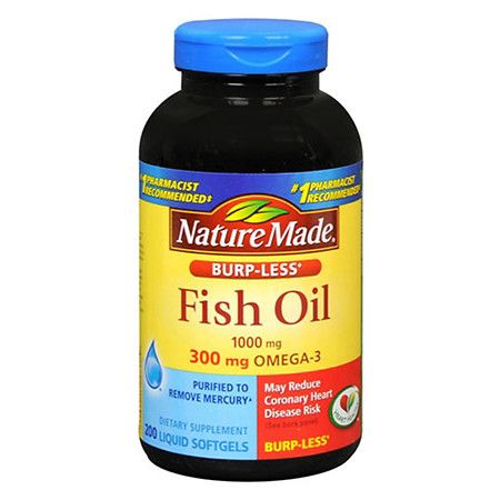 Nature Made Fish Oil 1000 mg Dietary Supplement Liquid Softgels - 200 ea