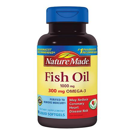 Nature Made Fish Oil, 1000mg, Liquid Softgels - 90 ea