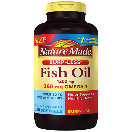 Nature Made Fish Oil 1200 mg Dietary Supplement Liquid Softgels - 200 ea