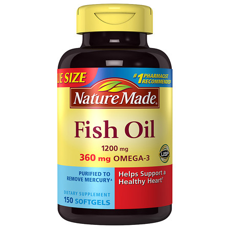 Nature Made Fish Oil 1200 mg Softgels - 150 ea