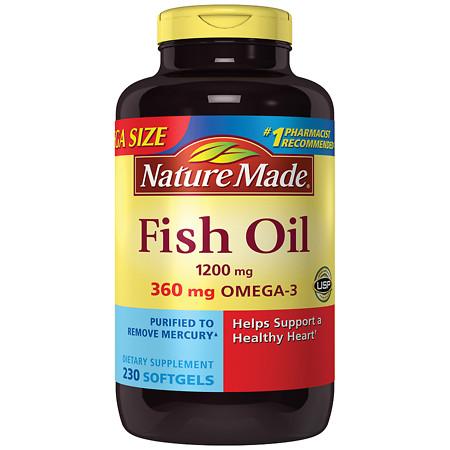 Nature Made Fish Oil 1200 mg Softgels - 230 ea