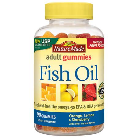 Nature Made Fish Oil Adult Gummies Pineapple-Orange Peach & Mango - 90 ea