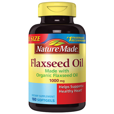 Nature Made Flaxseed Oil 1000 mg Dietary Supplement Liquid Softgels - 180 ea
