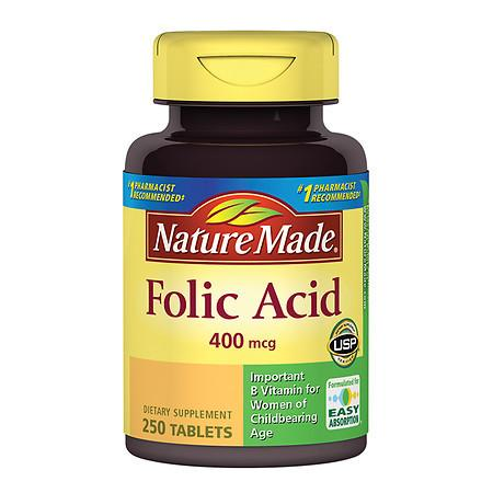 Nature Made Folic Acid 400 mcg - 250 ea