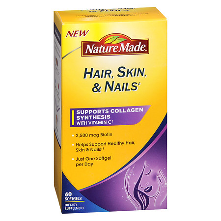 Nature Made Hair-Skin-Nails with 2500 mcg of Biotin, Softgels - 60 ea