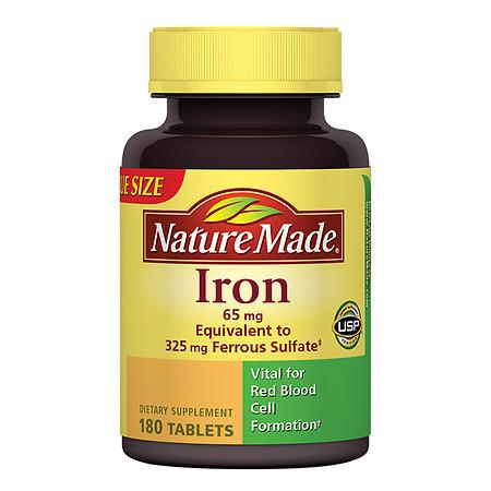 Nature Made Iron 65 mg Dietary Supplement Tablets - 180 ea