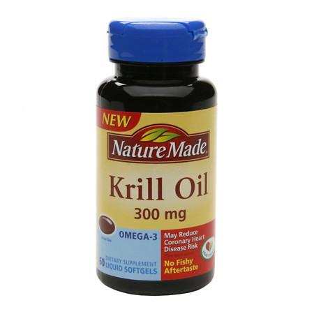 Nature Made Krill Oil 300 mg Dietary Supplement Liquid Softgels - 60 ea