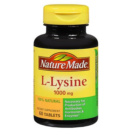 Nature Made L-Lysine 1000 mg Dietary Supplement Tablets - 60 ea