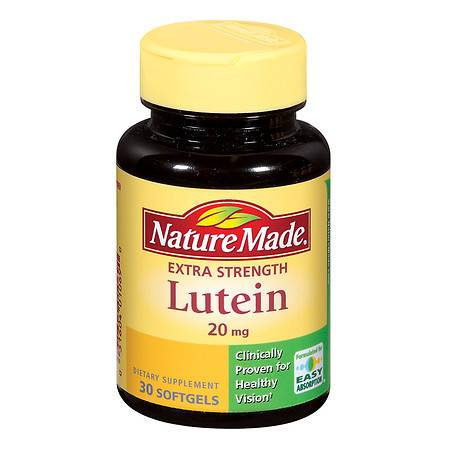 Nature Made Lutein 20 mg Dietary Supplement Liquid Softgels - 30 ea